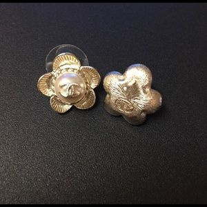 CHANEL Jewelry - Chanel camellia and pearl earrings